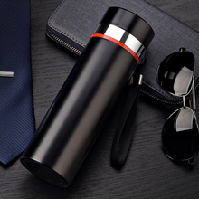 Fashion 500ML Home Thermos Tea Vacuum Flask With Filter Stainless Steel 304 Thermal Cup Coffee Mug Water Bottle Office Business 450ml hot water thermos tea vacuum flask with filter stainless steel 304 sport thermal cup coffee mug tea bottle for winter
