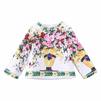 Girls Clothes Sets Christmas Outfits 2017 Brand Floral Kids Tracksuit for Girls Autumn Clothing Children Sets Sweatshirts+Pants