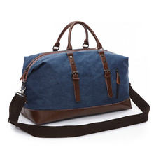 High Quality Men Travel Bag Canvas Multifunction Leather Bags Carry On Luggage Bag Men Tote Large Capacity Utility все цены