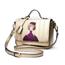 2016 New Casual Women Messenger Bags with Cartoon Ladies Bags Purses and Handbags Shoulder Bag Crossbody Bag