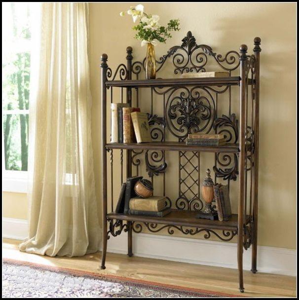 Brand-new Do the old vintage wooden bookshelf European wrought iron racks  PD75