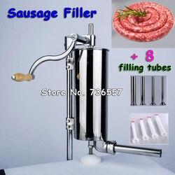 4l ручные дома колбасу мяса писака из нержавеющей стали, вручную вертикальных колбасы машина Кухня инструмент Колбаса чайник