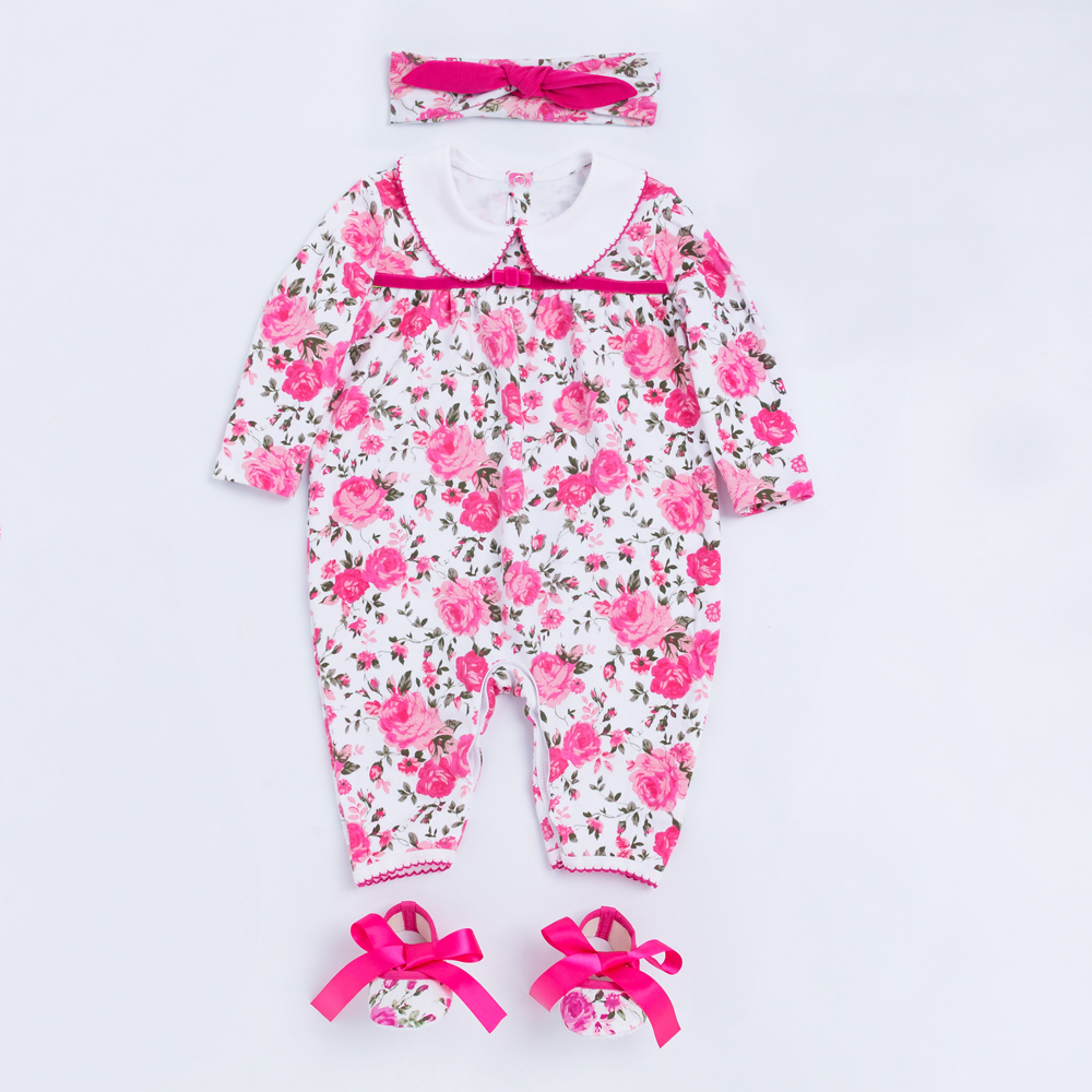 Baby Girls Outfit Flower Clothing Sets Newborn Baby Warm Overalls Cotton Jumpsuit Clothes 2019 New Style Birthday Bebek Giyim in Clothing Sets from Mother Kids