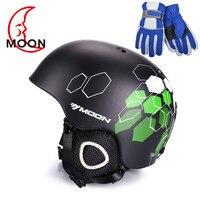 MOON Skiing Helmet PC EPS Ultralight CE Certification Integrally Molded Breathable Ski Helmet Snowboard Skateboard Helmet