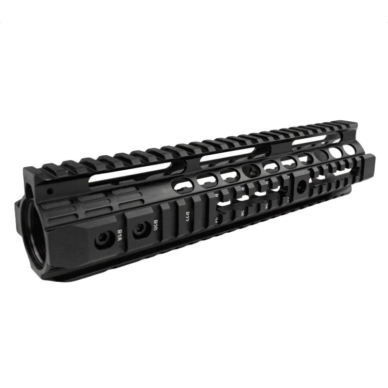 High quality 10 0 inch handguard rail system for Airsoft AEG M4 M16 Black Free shipping