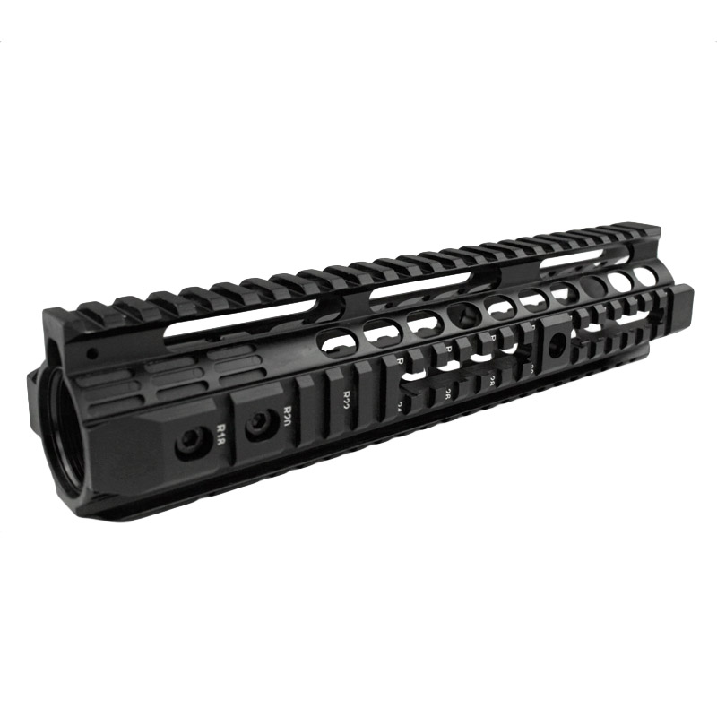 High quality 10.0 inch handguard rail system for Airsoft AEG M4 / M16 Black - Free shipping 2pcs high quality 1 2 inch shank rail