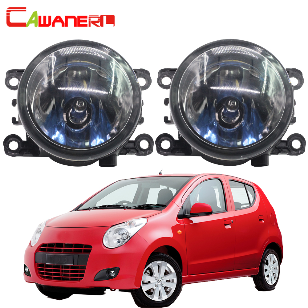 Cawanerl 2 Pieces 100W Car Halogen Fog Light DRL Daytime Running Lamp High Power 12V For Suzuki Alto V GF Hatchback 2009-2015 cawanerl 2 x car led fog light drl daytime running lamp 12v white for toyota prius hatchback zvw3 1 8 hybrid 2009 onwards