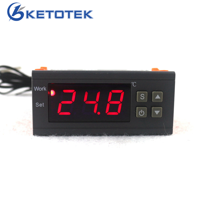 Digital Temperature Controller 90-250V 10A 220V Thermostat Regulator with Sensor -50~110C Heating Cooling Control digital stc 1000 220v all purpose temperature controller thermostat with sensor