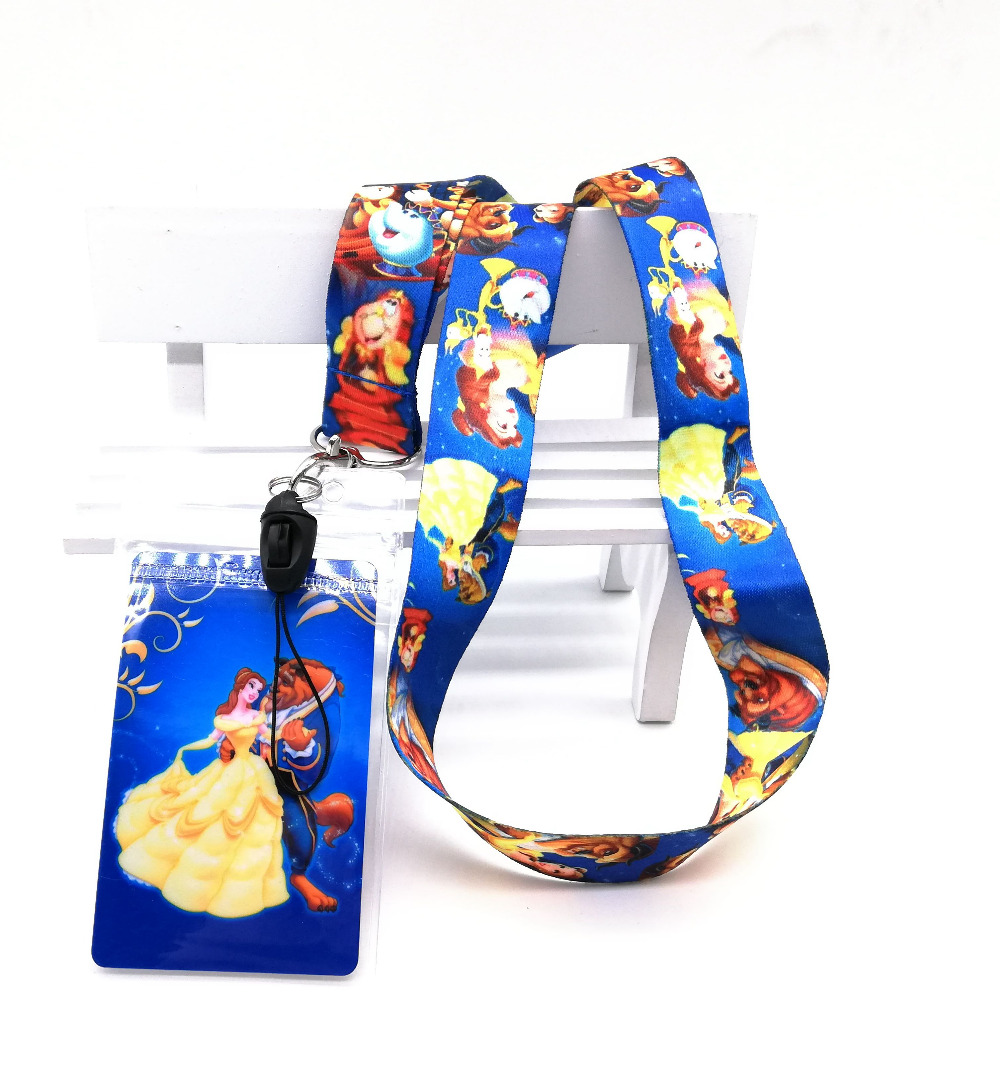 1 Pcs Princess Bell Neck Strap Lanyards Card Holders Bank Neck Strap Card Bus ID Holders  Rope Key Chain Gift K70