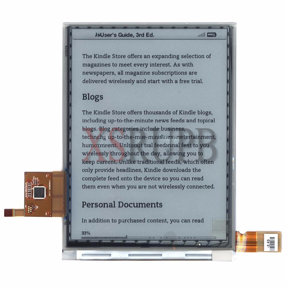 New 6 Inch ED060SCM (LF) T1 Lcd Screen For PocketBook Touch 622 Reader