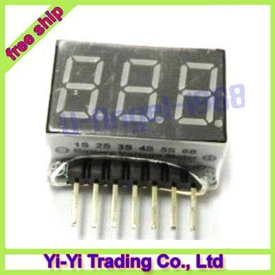 10pcs/lot Battery Cell 1-6S RC Lipo Battery Voltage Meter Indicator Checker Tester + Register free shipping