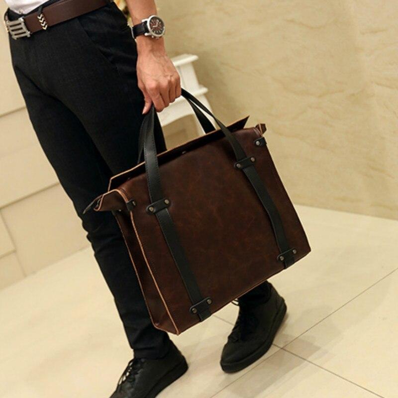 ФОТО Han edition men's bags leather men's bags handbag restoring ancient ways men shoulder bag business bag