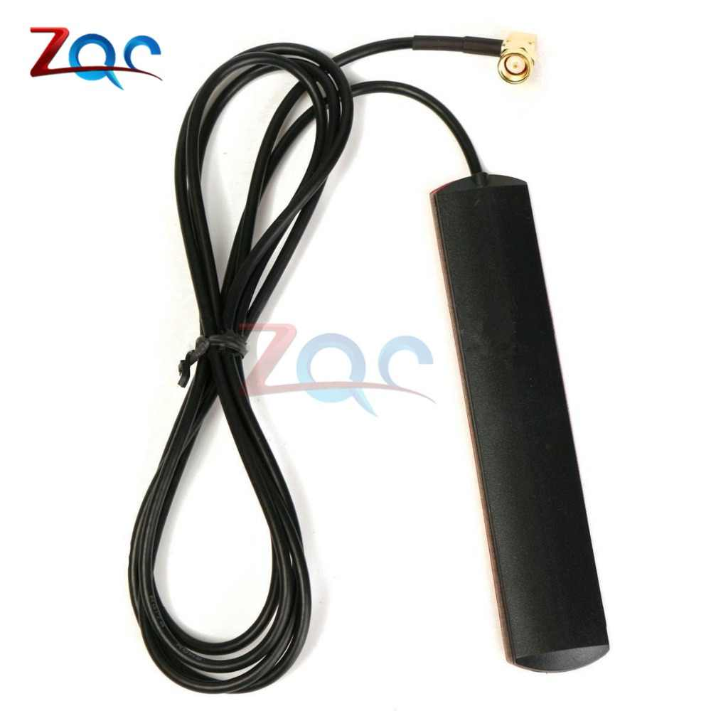 GSM GPRS Antenna 433 Mhz 2.5dbi Cable 90° SMA Male Universal DAB Patch Aerial