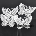 20pcs/lot Heart Lace Applique Mesh Trim For Garment Accessories Decoration Sew On Guipure Lace Fabric CP0556