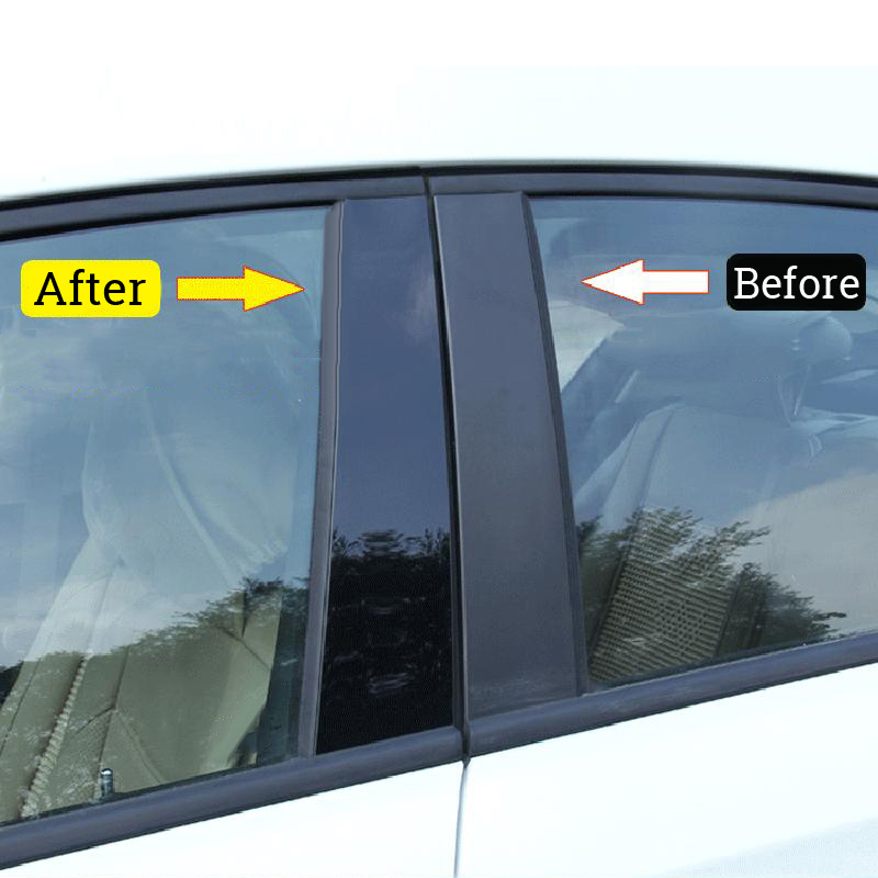 6pcs Black Window Pillar Posts Trims Cover Set Window High Quality Stock Durable Useful For Honda Civic 2016 2017 2018 in Car Stickers from Automobiles Motorcycles