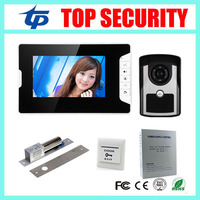 IP65 Waterproof Out Door Camera Unit 7inch Color Screen Video Door Phone System Electric Bolt Lock