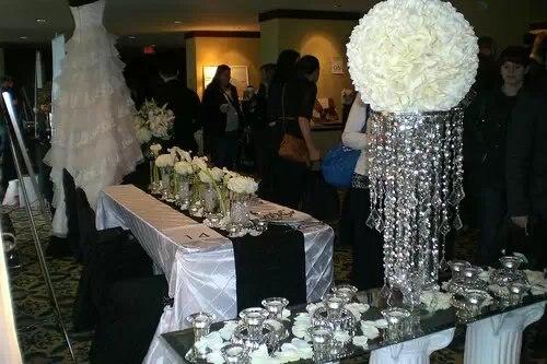 New Sliver Trumpet Vase For Wedding Centerpiece Sliver Flower Stand
