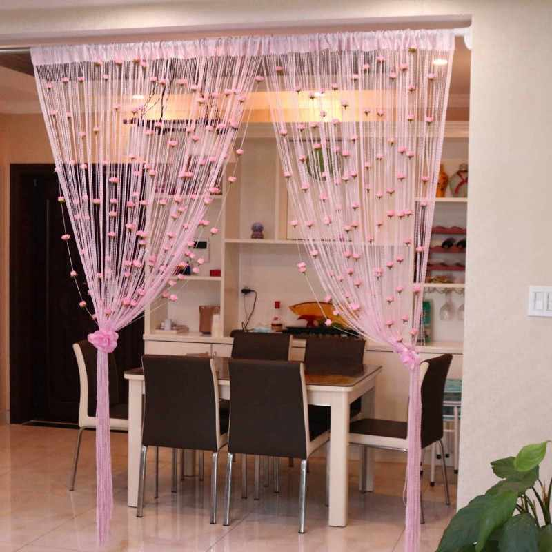 1M*2M Romantic Rose High-End Kitchen Living Room Curtain Partition Porch Curtain Curtain Decoration Finished Product A052&20