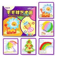 DIY Vroege Educatief Speelgoed Voor Kinderen Pom Pom Painitng Speelgoed Voor Kinderen Gift Montessori Stok Schilderen Voor Kids CZ2548H