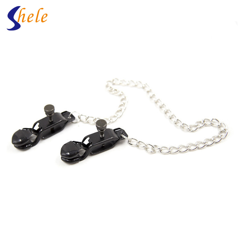 Buy 1 Pair Adjustable Stainless Steel Metal Breast Clips Nipples Clamps Adult Games Female,Fetish Erotic Sex Products Toys