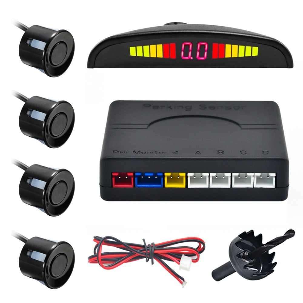 One Set Parking Sensor with 4 sensors 22mm LED Car Auto Parktronic Backlight Display Backup Reverse Radar Monitor System