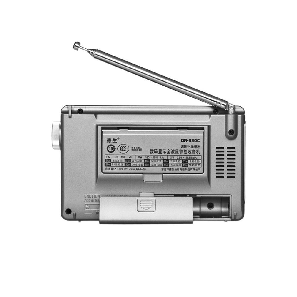 TECSUN DR-920C Digtal Afișează FM / MW / SW Radio Multi Band - Audio și video portabile - Fotografie 2