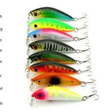 1piece Super Quality8 Colors 7cm 8.1g Isca Artificial Hard Bait Pesca Minnow Fishing lures wobbler crankbait 6# hook 3D eyes