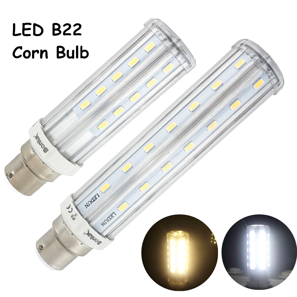 LED B22 Light Bulb 10W 15W Bayonet LED Corn Bulb 110V 220V B22 Base Lamp Replace Halogen B22 Bulb for Home Lighting