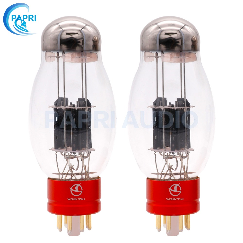 PAPRI Newest WE6SN7 PLUS Vacuum Tube  HiFi Shuguang Treasure For Audio HIFI DIY Tube Amplifier Factory Tested Matched 1Pair