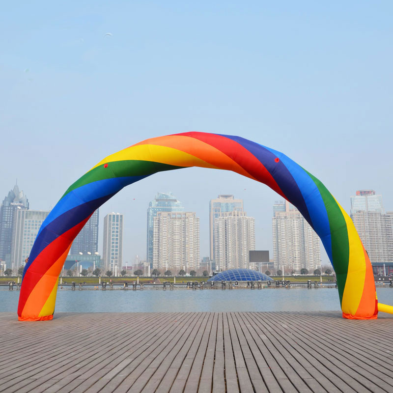26ft/8m Inflatable Rainbow Arch for Advertisement Huge Balloon inflatable santa claus 26ft 8m high bg a0344 toy