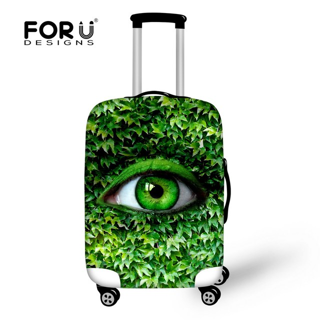 Novel 18-30inch Baggage Cover Elastic Big Eye Luggage Protective Dust Cover Stretch Waterproof Travel Suitcase Cover With Zipper
