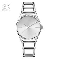 SK Business Wristwatch For Woman Feamle Stainless Steel Watchband Ladies Quartz Watch Clock Relogio Feminino Montre