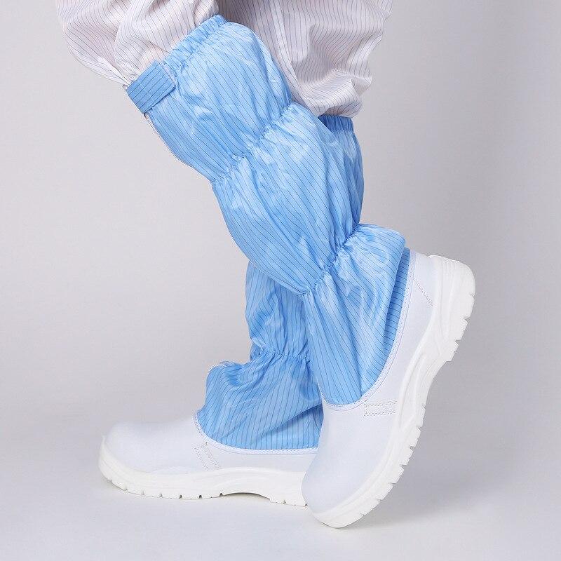 Bianco scarpe di sicurezza anti statica di alta tubo lungo stivali anti static anti acaro della polvere trasporto scarpe di sicurezza elettrica scarpe di depurazione - 3