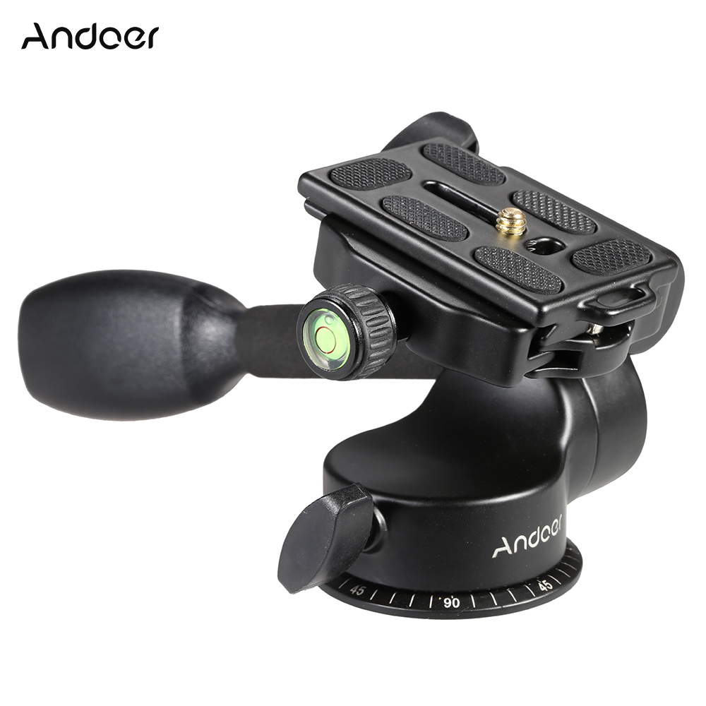Andoer Q08 Video Tripod Ball Head for DSLR Camera Tripod