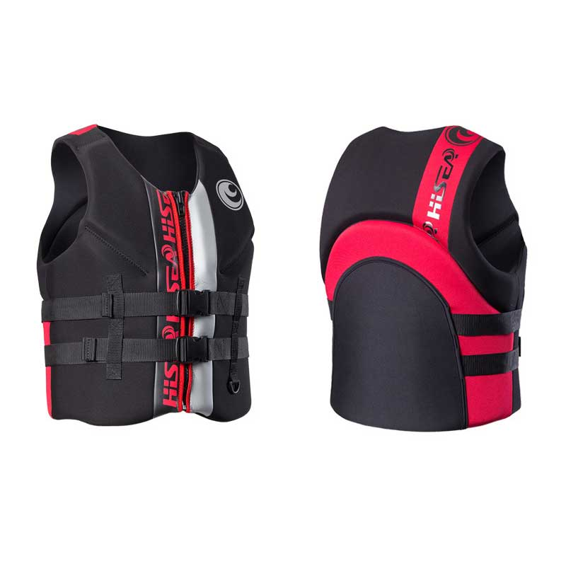 Men's Life Vest Premium Neoprene Life Jacket Front Zipper 2 Belts Safety For Water Sports Women's Youth Life Vest  S To 3XL