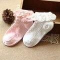 2 unids Muchachas de La Manera 2-10 años de algodón Los Niños Girs bebé calcetines calcetines de encaje niños calcetines primavera y el otoño de encaje calcetines