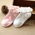 2pcs  Girls Fashion 2-10 Years old cotton Girs Children baby socks socks with lace kids socks spring and autumn lace socks