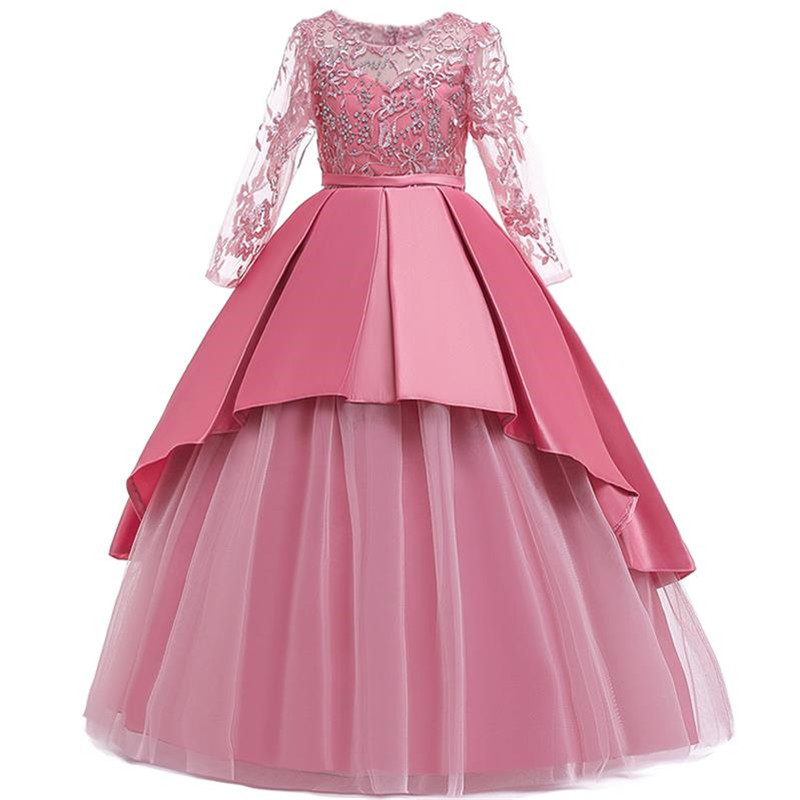 Children Pageant Evening Gowns 2019 Lace Ball Gown   Flower     Girl     Dresses   For Weddings First Communion   Dresses   For Lilttle   Girls