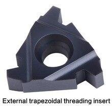 Filettatura CNC inserto in metallo duro 11IR 16IR 16ER 22IR 22ER 27IR ER interno extenal inserto filettatura 30 ° trapezoidale tornio filo strumento
