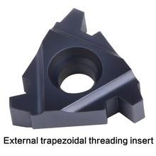 Inserto de carburo de rosca CNC 11IR 16IR 22IR 22ER 27IR ER, inserto de roscado extensible interno, herramienta de rosca de torno trapezoidal de 30 °