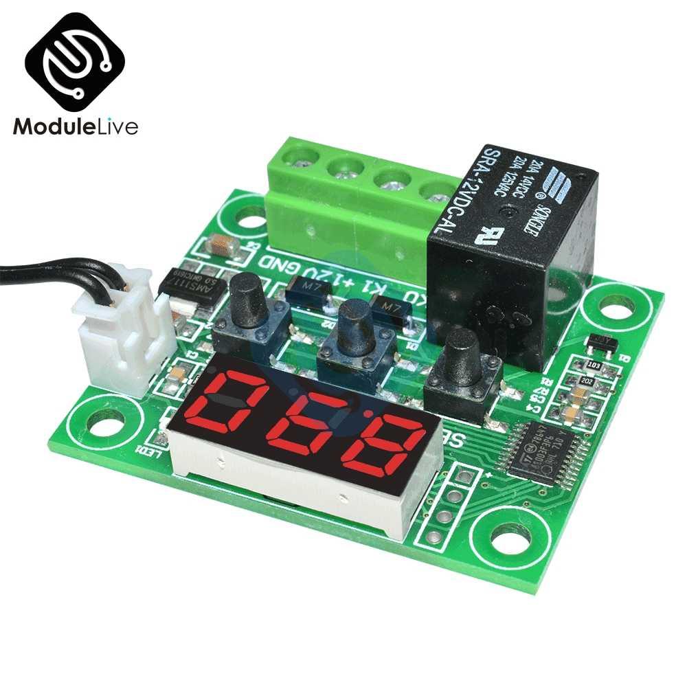 Dc 12V Rosso Blu Verde Bianco Led Digital W1209 Termostato di Controllo Della Temperatura Termometro Modulo Switch + Sensore Ntc Impermeabile