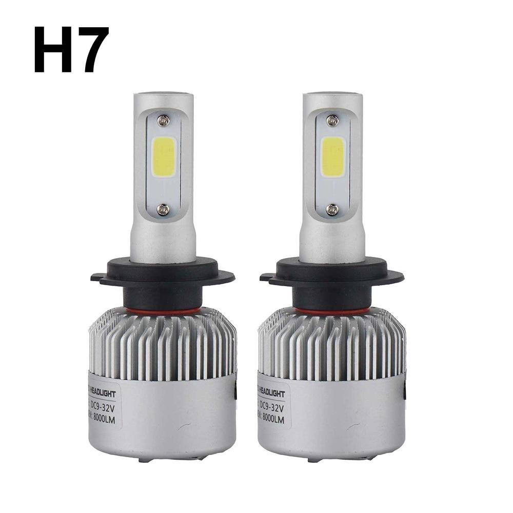 Prix pour Super bright Voiture Automatique H8 H11 H7 H4 H1 LED Phares 6500 K xenon blanc 72 W 8000LM COB Ampoules 2 côtés Diodes Automobiles Pièces lampe
