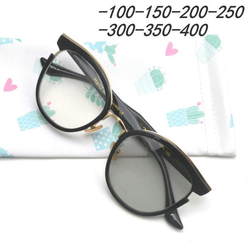 b8a56fdb93f2 2018 Anti-UV Finished Optical Eye Glasses Frames With Myopia Lens For Women  Men Sun