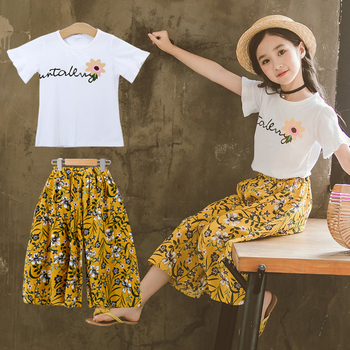 Kids Clothing Sets 2020 Summer Clothes For Kids Girls Teenage 5 6 7 8 9 10 12 14 Years Old Big Girls Boutique Outfits Teens Suit
