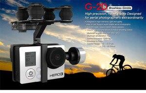 Image 2 - Cardan sans brosse en alliage daluminium dorigine Walkera G 2D pour caméra iLook / Gopro Hero 3 / Sony pour QR X350 PTZ