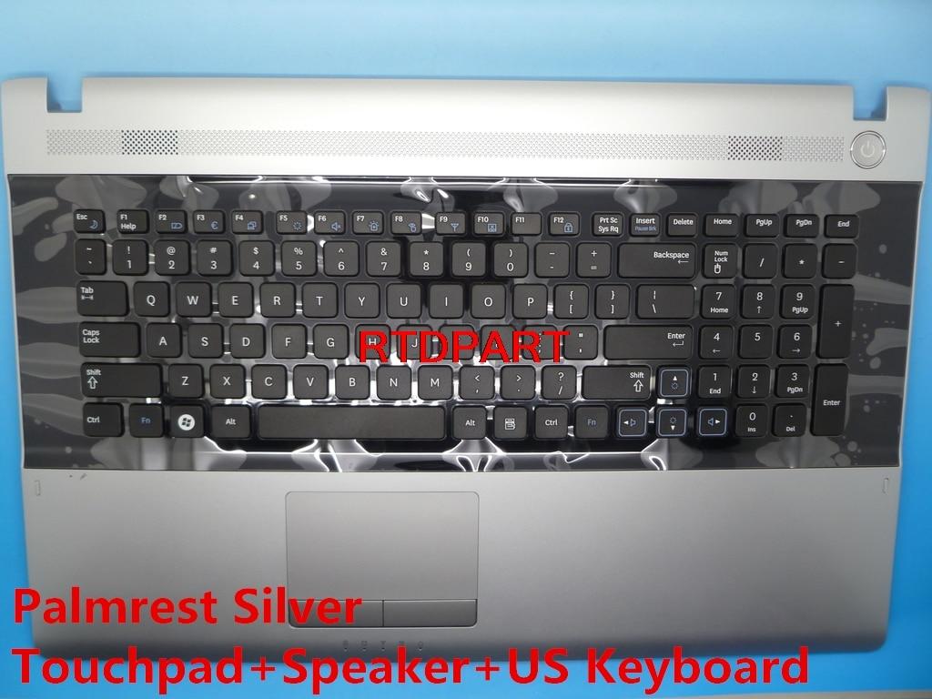 Linda Parts Wholesale store Laptop Palmrest For SAMSUNG NP-RV711 RV711 Touchpad Speaker English US Keyboard BA59-03058A 9Z.N6ASN BA75-03072A BA96-05576A
