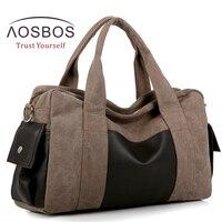 Vender Bolsa de gimnasio de lona Aosbos bolsa de deporte para hombres y mujeres para Fitness viaje al aire libre bolsos de hombro duradero multifuncional de entrenamiento