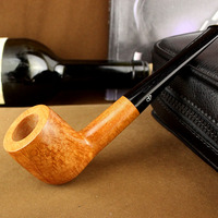 Superior Quality Bruyere Straight Type Food grade Plastic Mouthpiece Smoking Pipe Wooden Tobacco Pipe W/ 9mm Filter Element