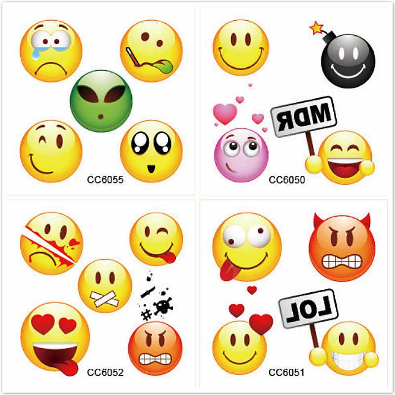 1 Set Emoji Stickers Verlegen Regenboog Eenhoorn Cartoon Sticker tol Gift Speelgoed Jongen Meisje Kinderen Watermerk Tattoo