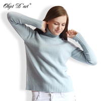 2017 Women Autumn Winter Knitting Sweaters Korean Design Knitwear Loose Thick Warm Turtleneck Knitted Pullover Female
